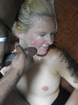 Amateur hood bitch hates facial first time 3